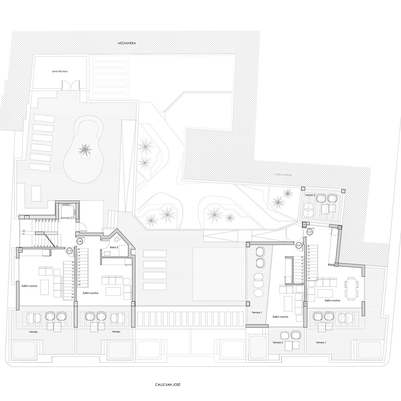 PLANTA CUBIERTA VENTURA II - Edificio Ventura II